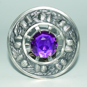 Broche Chardon Antique Violette