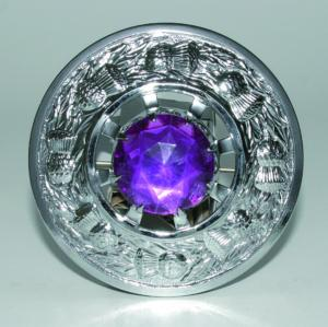 Broche Chardon Chrome Violette