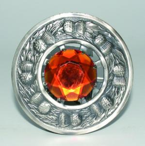 Broche Chardon Antique Orange